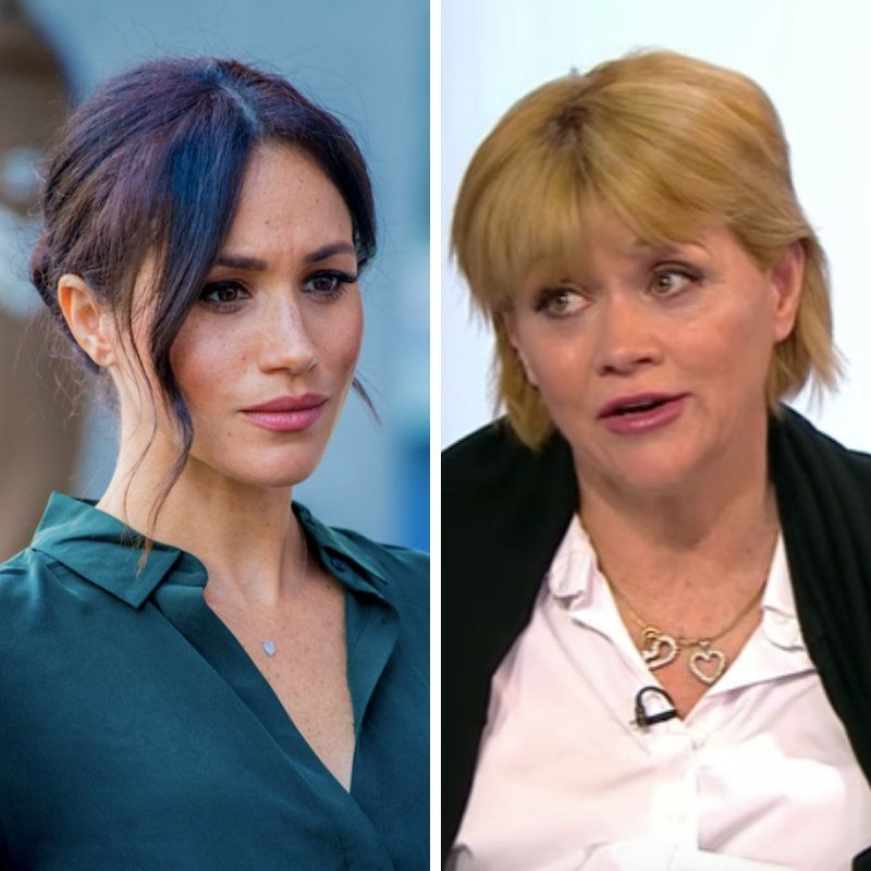 Meghan Markle (L) and half-sister Samantha Grant