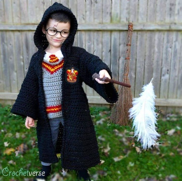 For Halloween, Stephanie Pokorny crochets costumes for her sons.