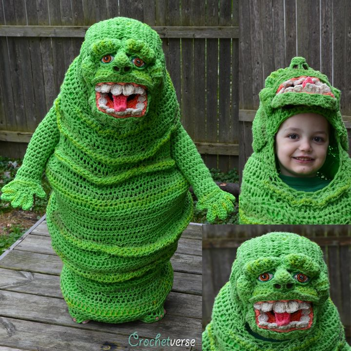 "Jack went with Slimer from the ""Ghostbusters"" franchise for his costume this year."