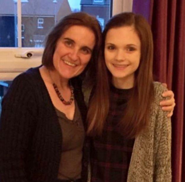 Katie (right) and her mum Hazel.