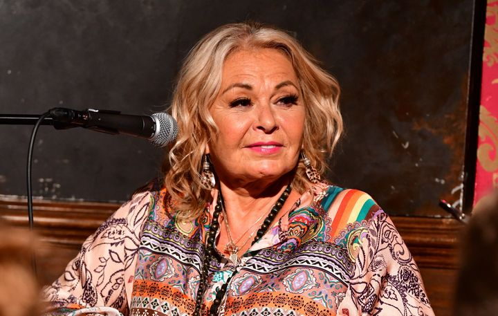 Roseanne Barr attends a live recording of Rabi Shmuley Boteach's podcast in New York City in July.
