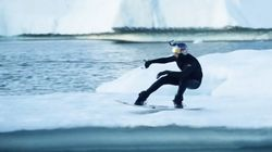 Wakeboarder Almost Freezes Taking On Icebergs In