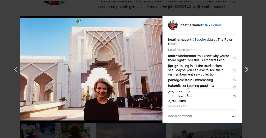State Department Aide Heather Nauert Dragged Over 'Stunningly Tone Deaf' Saudi Arabia Photo thumbnail