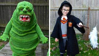 Stephanie Pokorny of Mentor, Ohio, crochets awesome costumes for her sons.