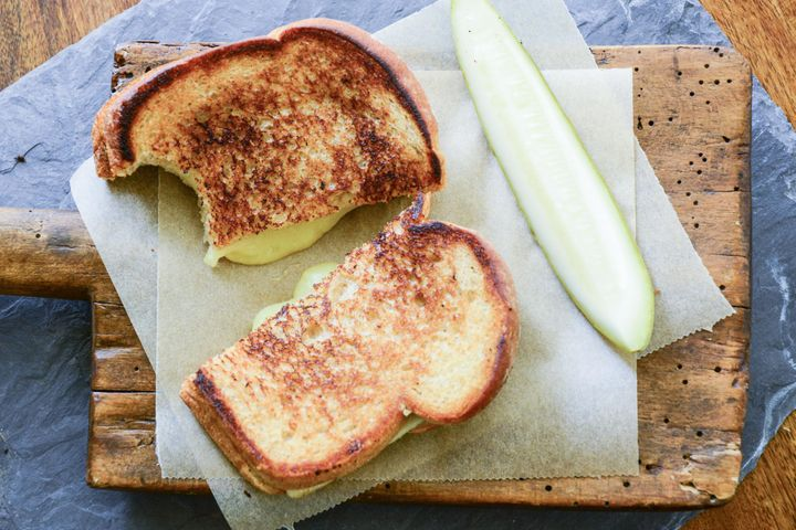 A successful grilled cheese sandwich.
