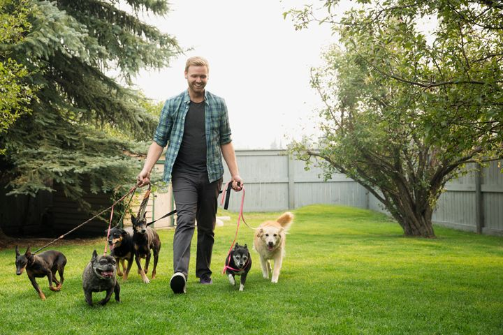 Dog sitting is just one way to bring in side income each month.