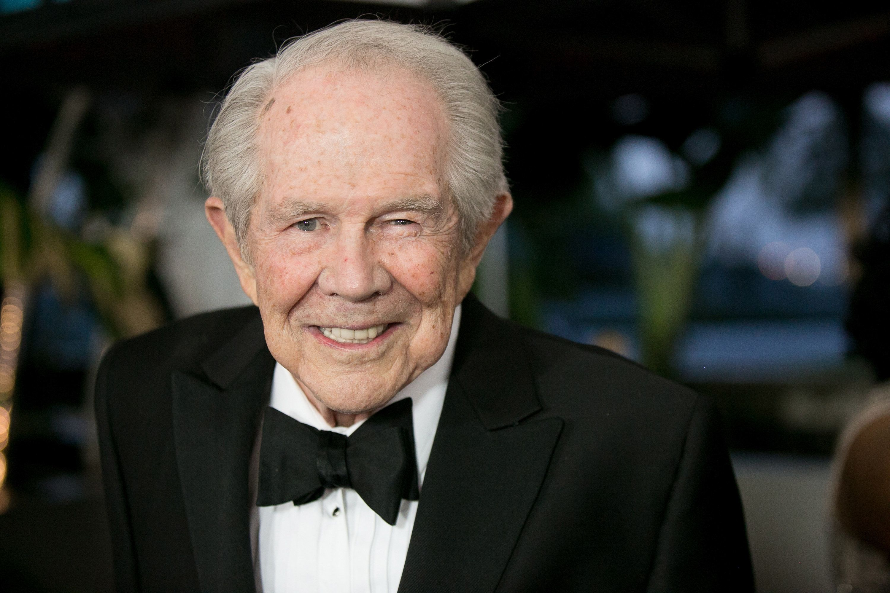 UNIVERSAL CITY, CA - FEBRUARY 10:  Pat Robertson arrives for the 25th annual Movieguide Awards - Faith and Family Gala at Universal Hilton Hotel on February 10, 2017 in Universal City, California.  (Photo by Gabriel Olsen/WireImage)