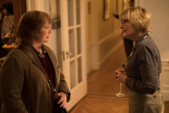 "Melissa McCarthy as Lee Israel and Jane Curtin as Marjorie, Israel's agent, in ""Can You Ever Forgive Me?"""