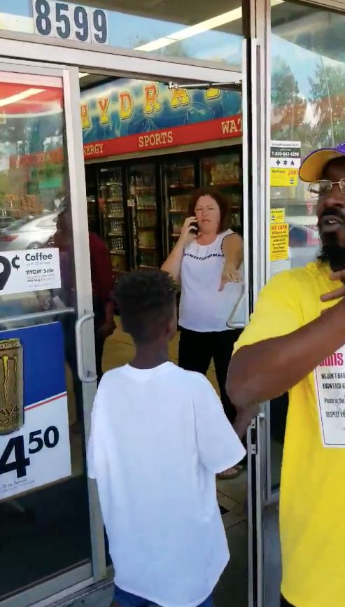 A woman who identified herself as Brenda called police after seeing a group of black people outside of a South Carolina gas s
