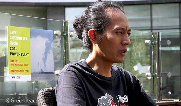 인도네시아 왈리 활동가 드위 사웅이 한국을 방문해 그린피스 서울사무소와 인터뷰를 하고