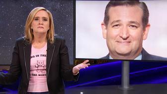Samantha Bee and Ted Cruz
