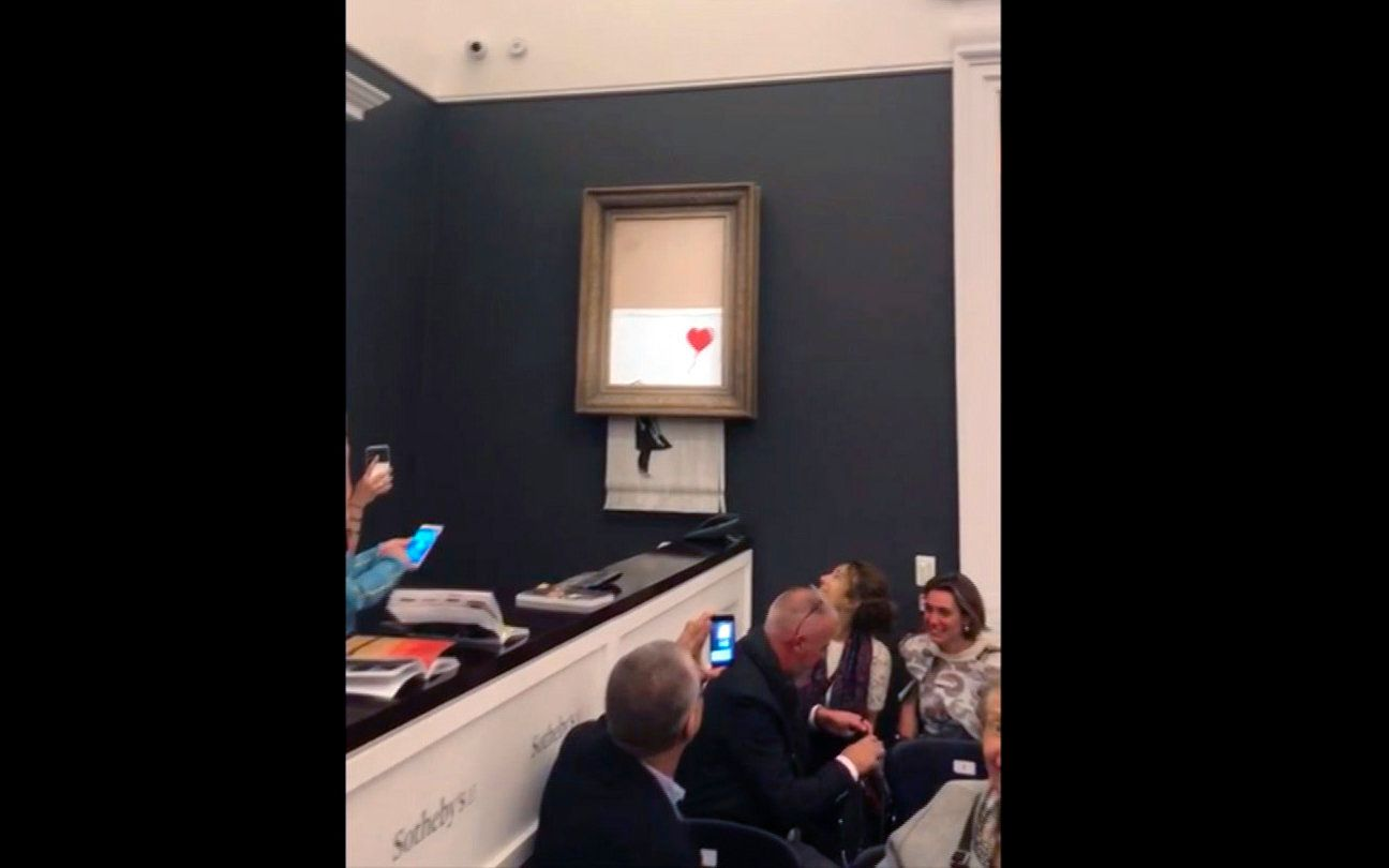 New Banksy Video Suggests Shredded Painting Stunt Didn't Go Entirely To