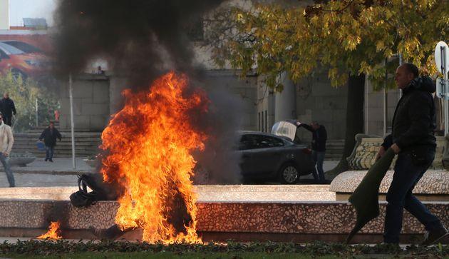 Image d'illustration: Une femme s'immole par le feu à Sofia, en Bulgarie, le 3 novembre