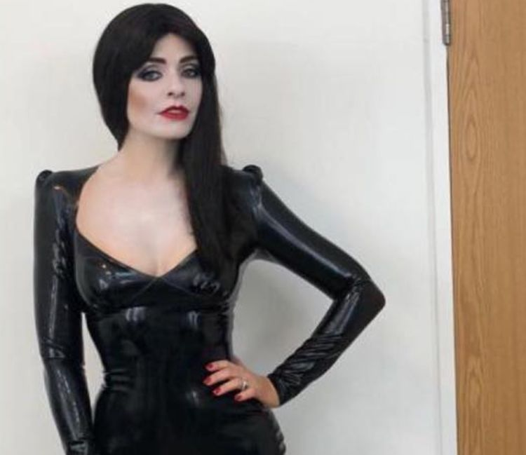 Holly Willoughby Looks Spooktacular As Morticia Addams At 'Celebrity Juice'