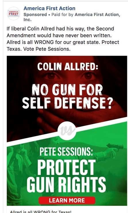 Texas Ad Against Colin Allred, Showing A Dark Hand Covering A White Woman's Mouth