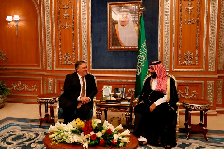 U.S. Secretary of State Mike Pompeo has been widely criticized for his friendly demeanor in public as he met with Saudi Crown