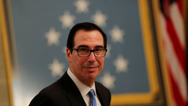U.S. Treasury Secretary Steven Mnuchin arrives at a White House reception for Congressional Medal of Honor recipients in the East Room of the White in Washington, U.S., September 12, 2018.  REUTERS/Carlos Barria