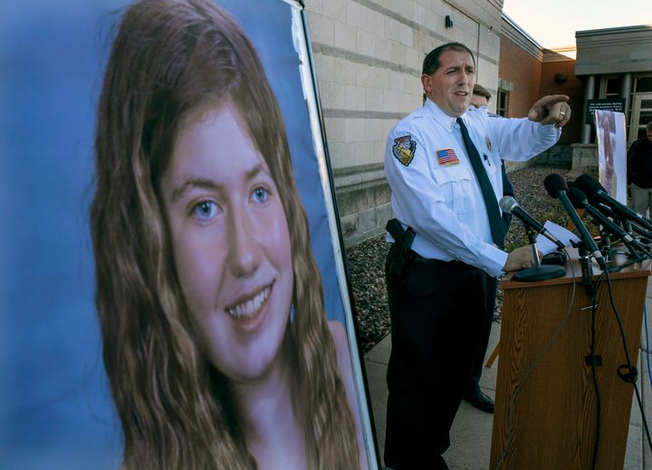 Barron County Sheriff Chris Fitzgerald speaks during a press conference about 13-year-old Jayme Closs who has been missing si