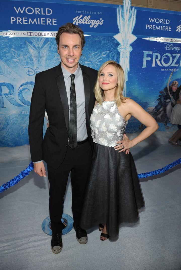 """Dax Shepard and Kristen Bell at the world premiere of """"Frozen."""""""