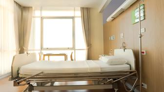 Automatic Electric Beds for Patients In the hospital's recovery room. Mattress with white cloth