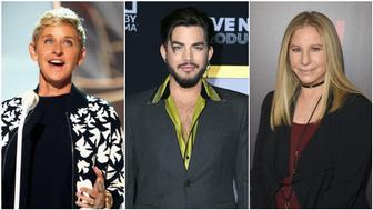 Ellen DeGeneres, Adam Lambert, Barbra Streisand and other celebrities honored Spirit Day (Oct. 18) with heartfelt social media posts.