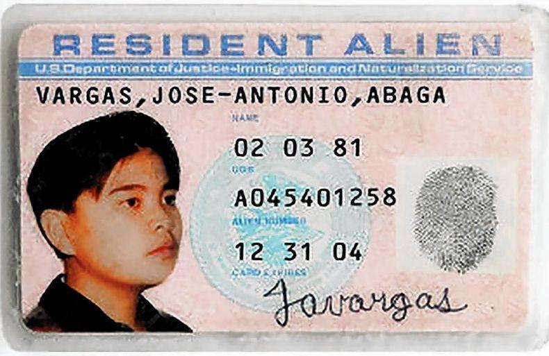 Vargas' counterfeit green card.