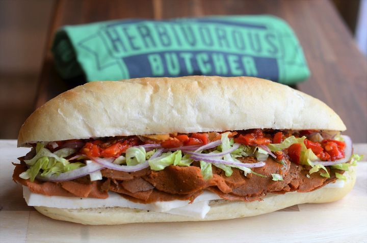 The Italian cold cut sandwich from Herbivorous Butcher.