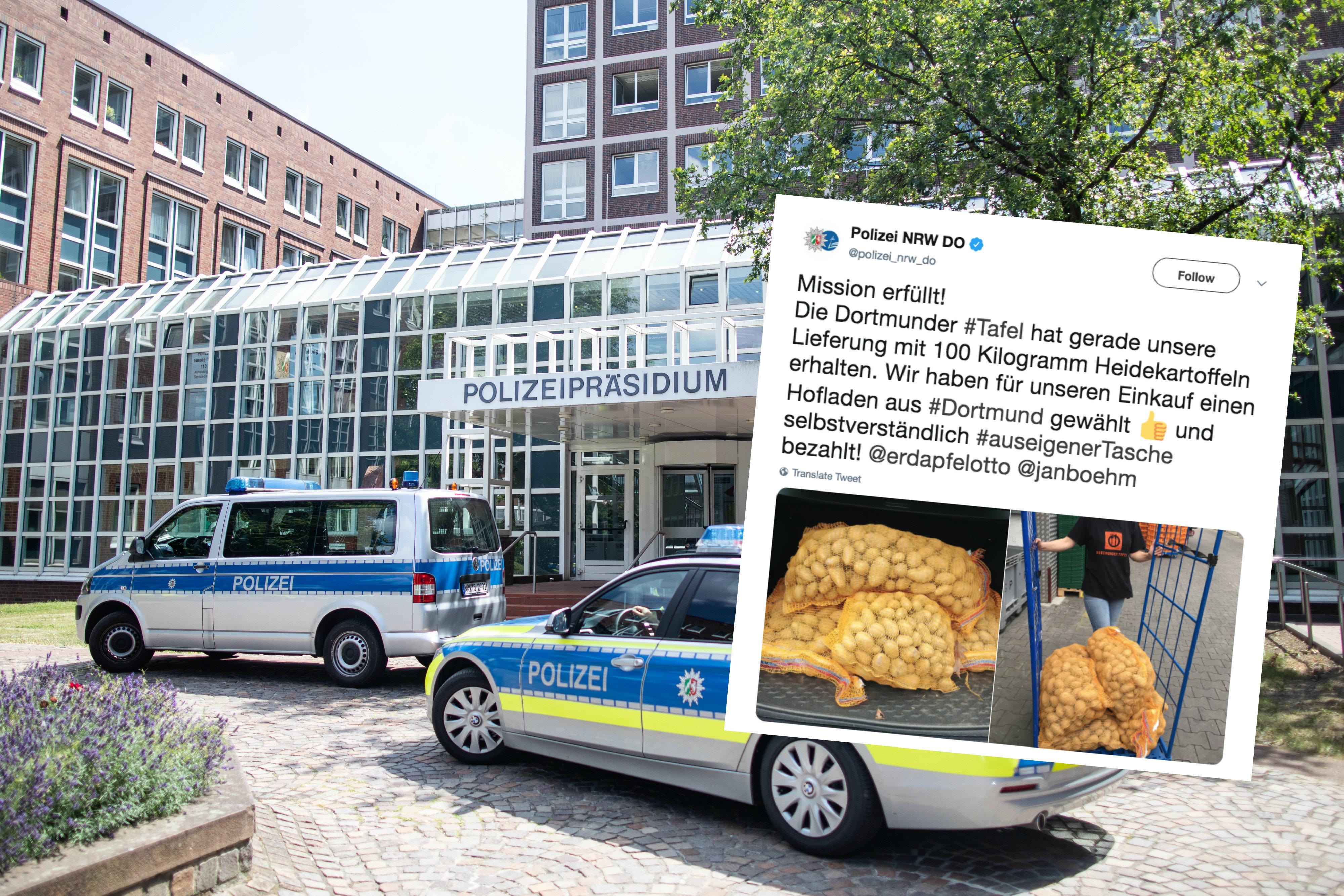 Dortmund: Mann legt sich mit Polizei an – erst 300 Kilogramm Kartoffeln beenden den