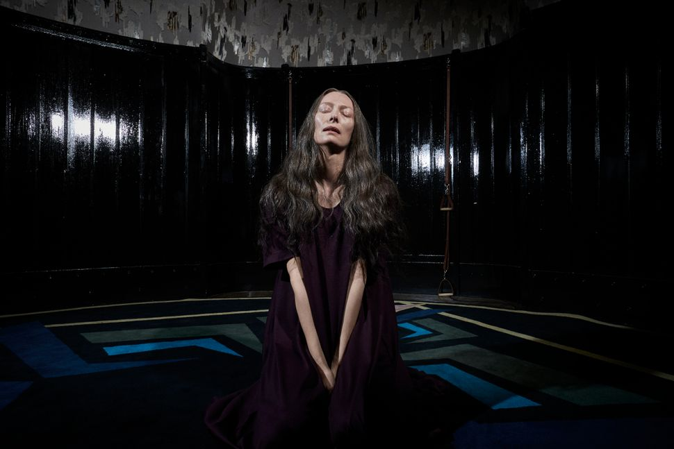 "Tilda Swinton as Madame Blanc in ""Suspiria."""