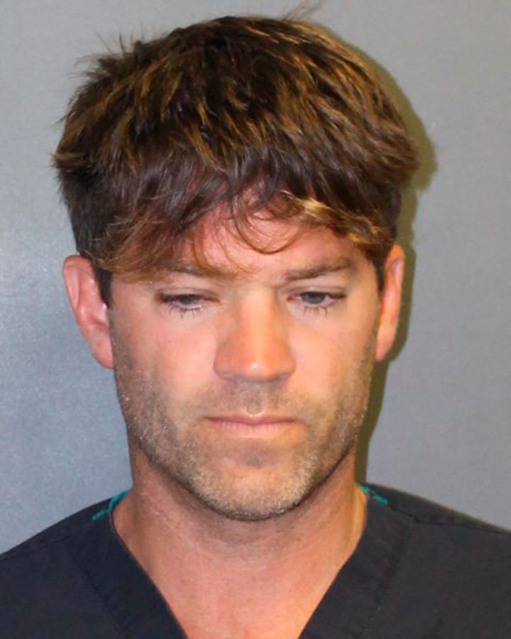 This undated booking photo provided by the Newport Beach, Calif., Police Department shows Grant Robicheaux.