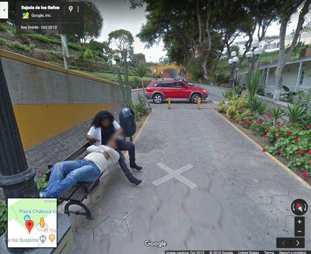 바람피우다 구글 스트리트뷰에 포착된 페루의 한