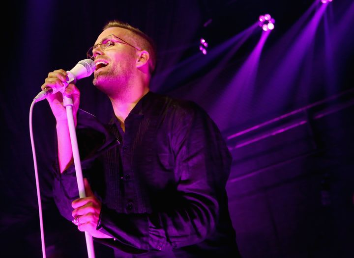 Songwriter Justin Tranter takes the stage Wednesday at The Sayers Club in Los Angeles for his GLAAD benefit concert honoring
