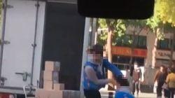 '장애인 택배기사 폭행 영상'에 경찰이 수사를