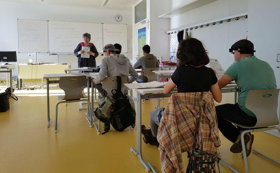 Die Vorbereitungsklasse für Pflegehelfer in Vilsbiburg.