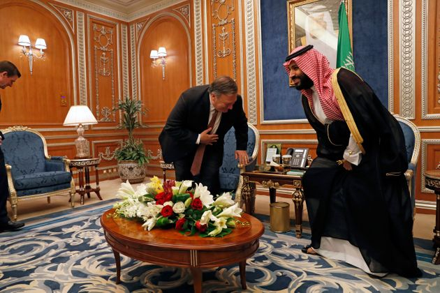 US secretary of stateMike Pompeo meeting with Crown Prince Mohammed bin Salman over the disappearance...