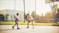 This Kid Helping His Little Sister Play Basketball Is The Joy We All