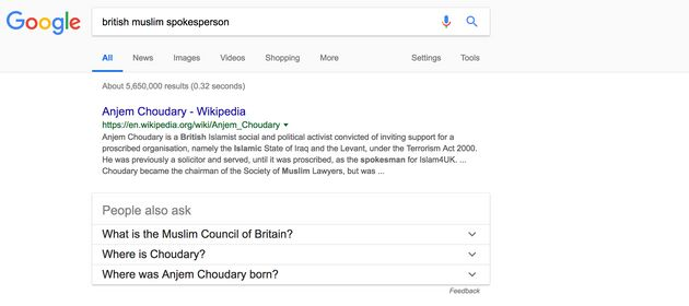 Why Is Anjem Choudary Google's Top Result For 'Muslim