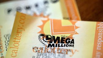 SAN ANSELMO, CA - JANUARY 03:  Powerball and Mega Millions lottery tickets are displayed on January 3, 2018 in San Anselmo, California. The Powerball jackpot and Mega Millions jackpots are both over $400 million at the same time for the first time. The Mega Millions $418 million jackpot would be the fourth largest and the $460 million Powerball jackpot would be the seventh largest in the game's history.  (Photo by Justin Sullivan/Getty Images)