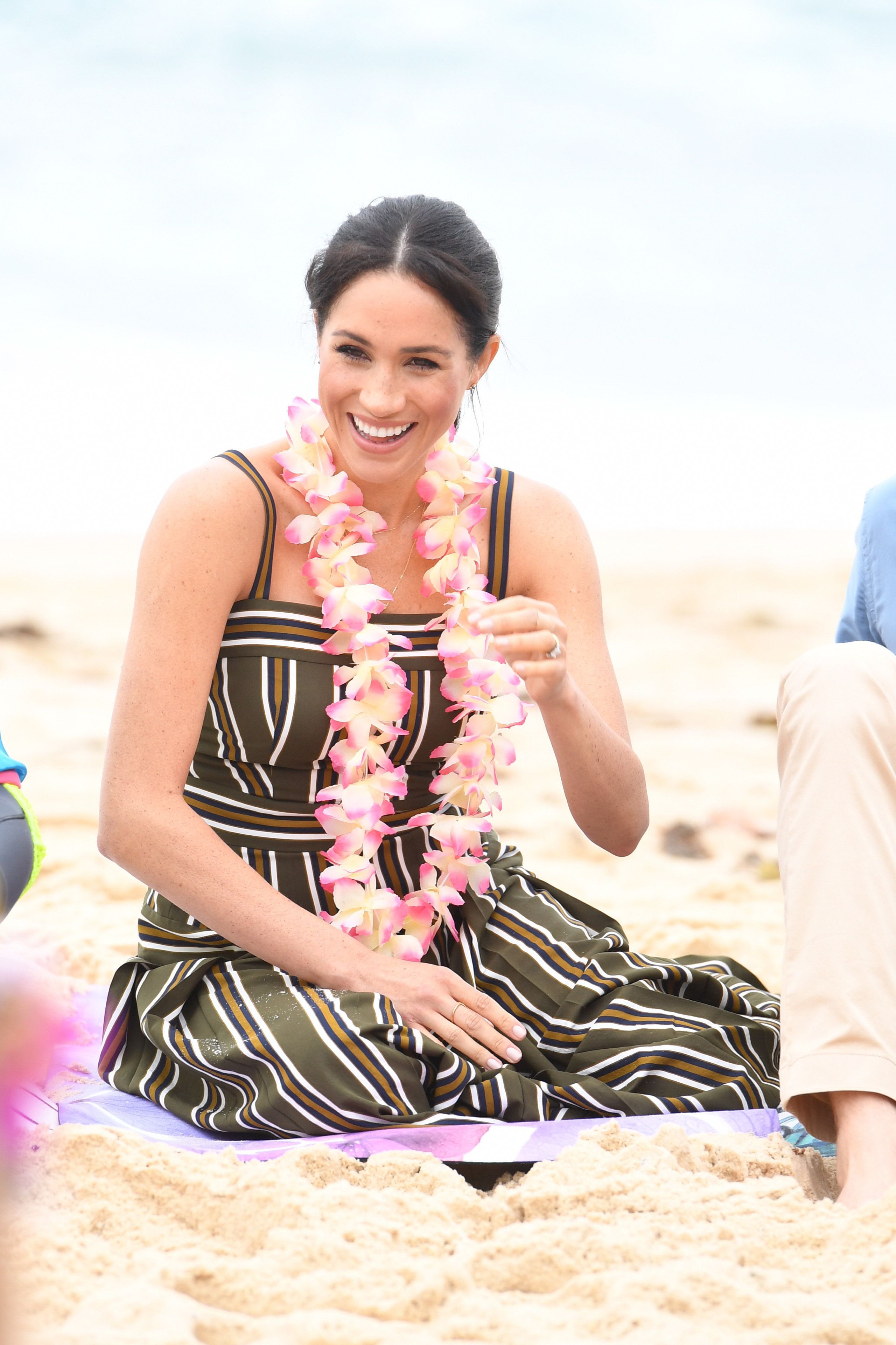 The Duchess of Sussex during a visit to South Bondi Beach in Sydney, on the fourth day of the royal couple's visit to Australia.