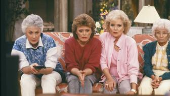 THE GOLDEN GIRLS -- Pictured: (l-r)  Bea Arthur as Dorothy Petrillo-Zbornak, Rue McClanahan as Blanche Devereaux, Betty White as Rose Nylund, Estelle Getty as Sophia Petrillo -- Photo by: NBC/NBCU Photo Bank