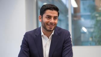 UNITED STATES - March 27: Ammar Campa-Najjar, Democratic candidate for California's 50th Congressional district, is interviewed by CQ Roll Call at their D.C. office, March 27, 2018. (Photo by Thomas McKinless/CQ Roll Call).