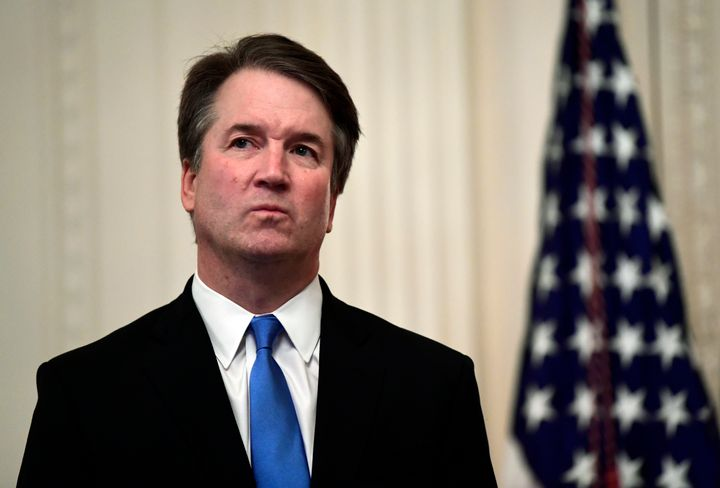 Supreme Court Justice Brett Kavanaugh stands before a ceremonial swearing-in on Monday, Oct. 8, 2018.