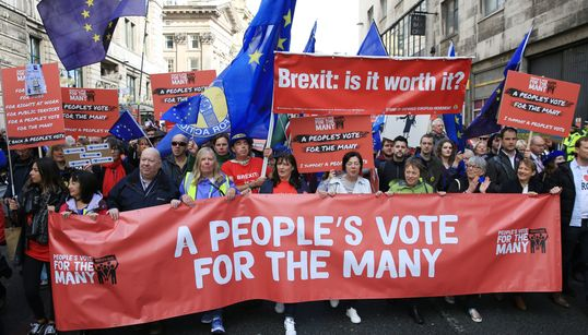 More Than 100,000 People Expected To Attend People's Vote