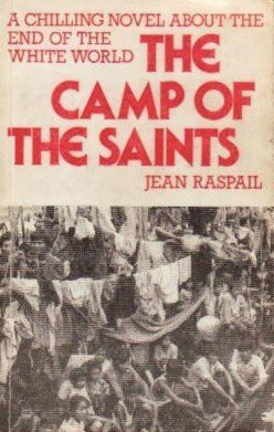 The cover of this English translation of <i>The Camp of the Saints,</i> which envisions the takeover of Europe by