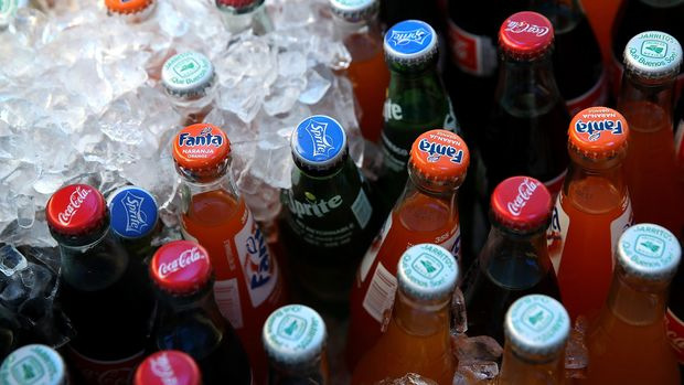 SAN FRANCISCO, CA - JUNE 29:  Bottles of soda are displayed in a cooler on June 29, 2018 in San Francisco, California. California Gov. Jerry Brown signed into law a bill that restricts local governments from imposing new taxes on soda until 2031.  (Photo by Justin Sullivan/Getty Images)