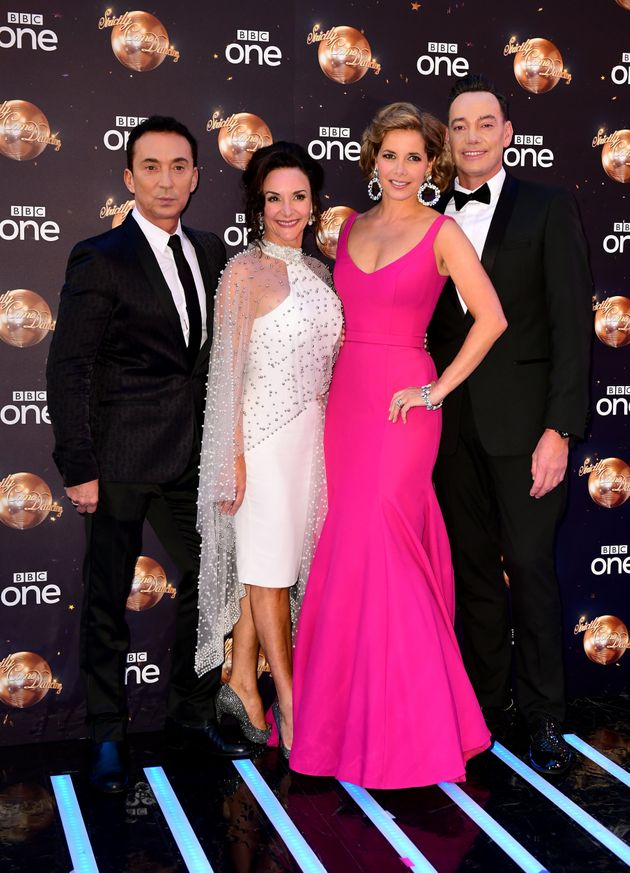 The 'Strictly' judges (l-r) Bruno Tonioli, Shirley Ballas, Darcey Bussell and Craig Revel