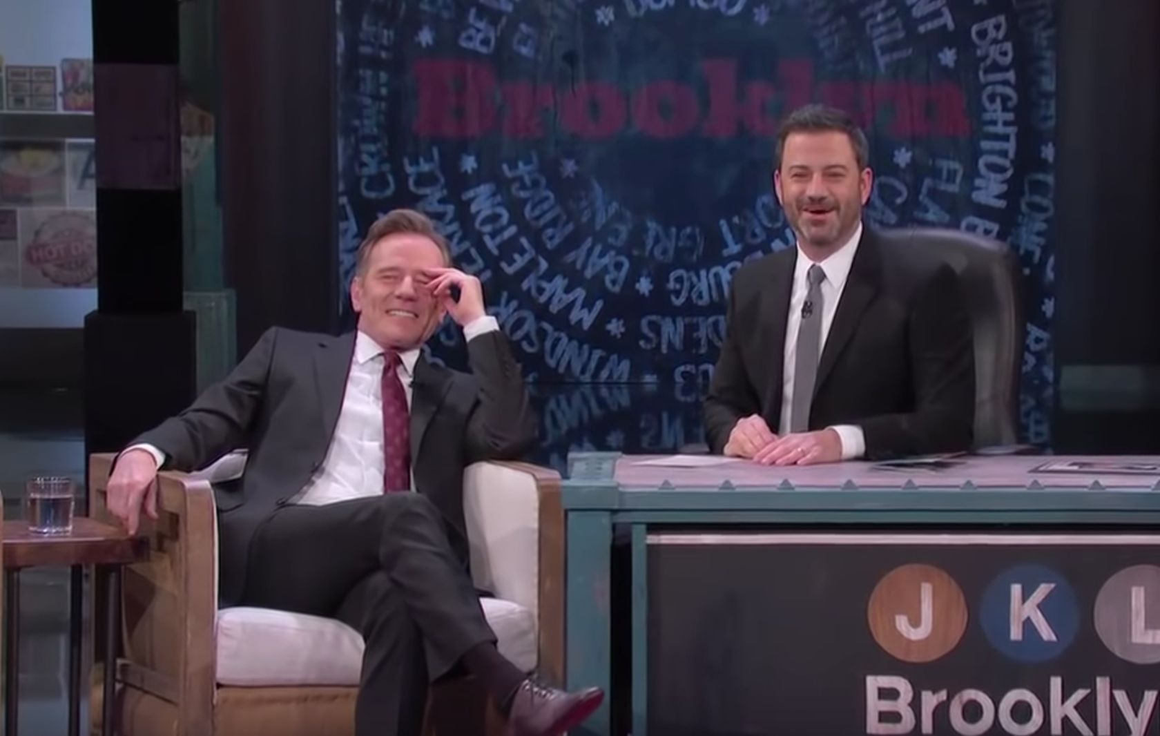 Jimmy Kimmel embarrasses Bryan Cranston with clip from actor's soap opera days.
