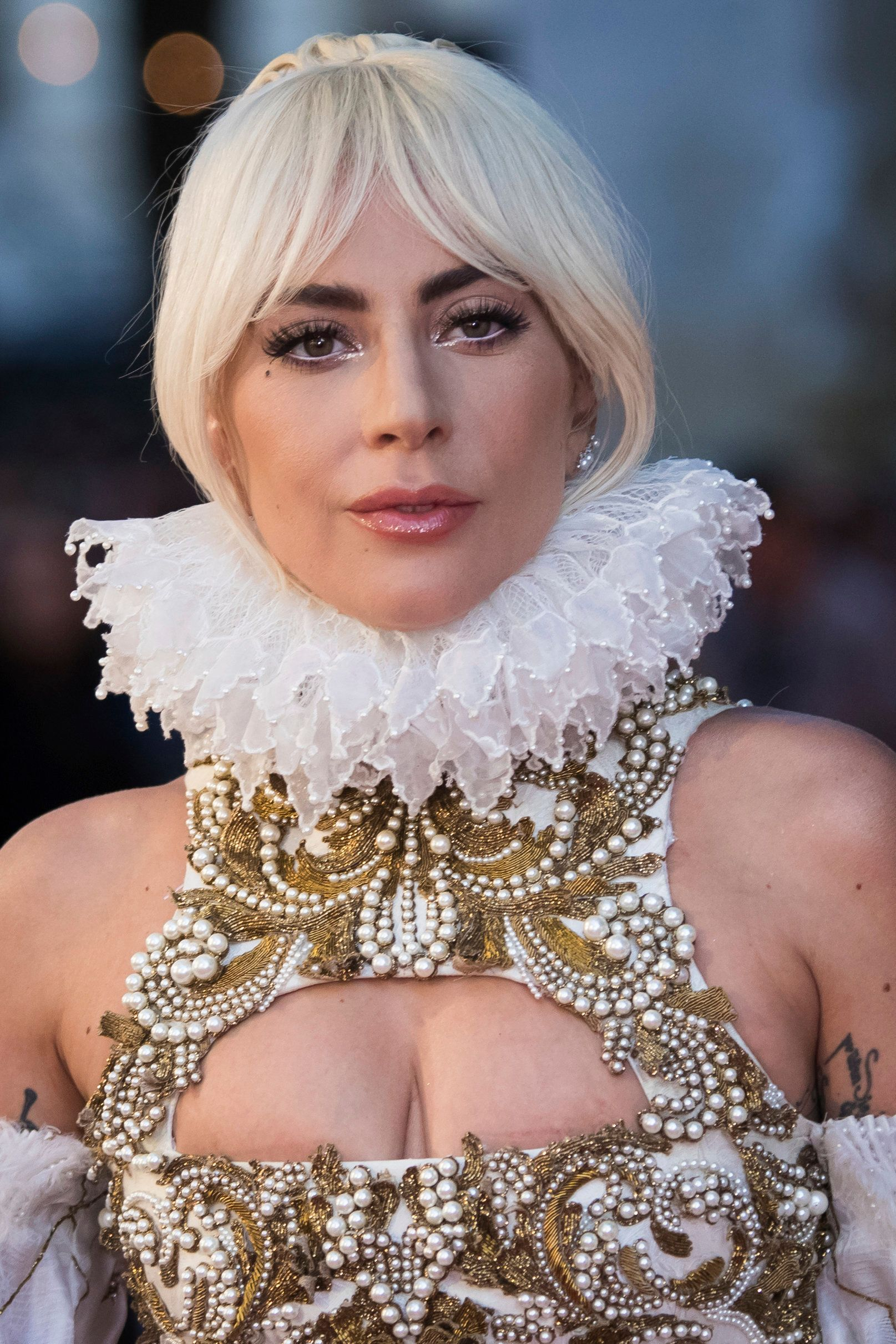 Actress and singer Lady Gaga poses for photographers upon arrival at the premiere of the film 'A Star Is Born' in London, Thursday, Sept. 27, 2018. (Photo by Vianney Le Caer/Invision/AP)