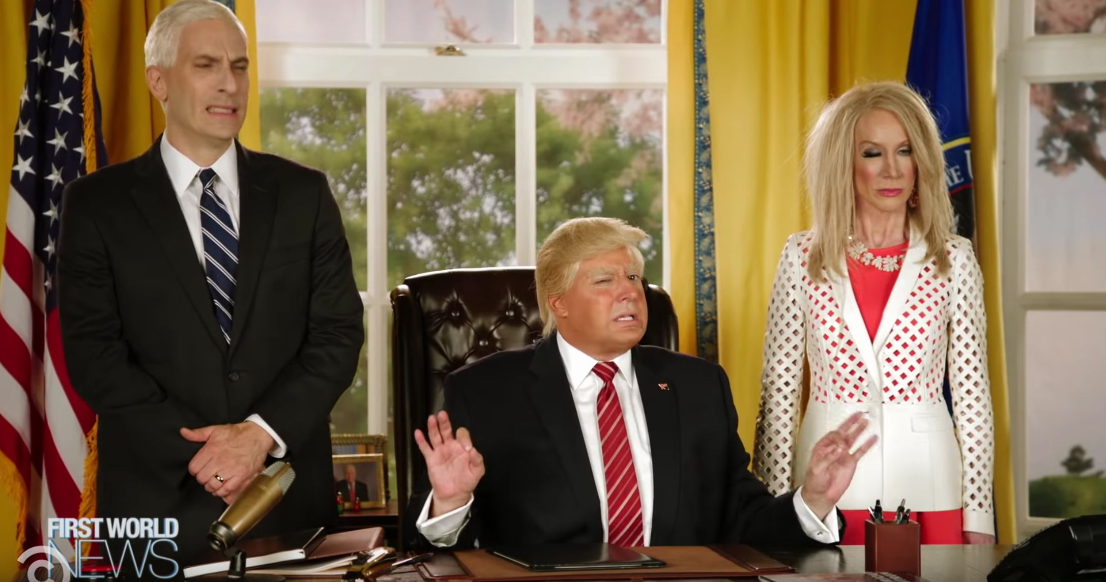 """The President Show"" chronicles the fall of President Trump from the year 2030."