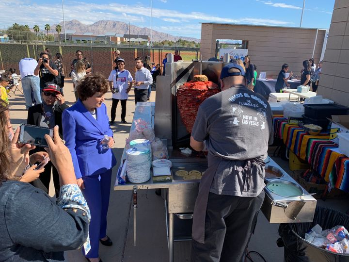 """I'm not leaving without a taco,"" Rep. Jacky Rosen (D-Nev.) remarked to an aide at a Saturday campaign stop before loading up"